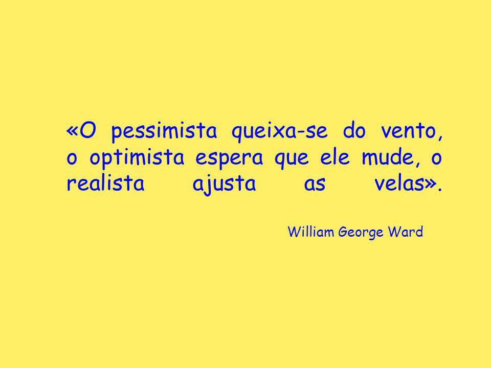«O pessimista queixa-se do vento, o optimista espera que ele mude, o realista ajusta as velas».
