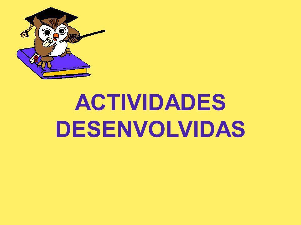 ACTIVIDADES DESENVOLVIDAS