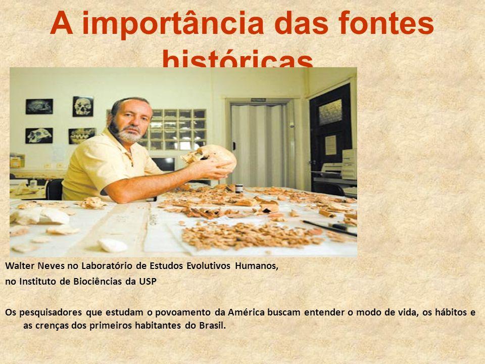 A importância das fontes históricas.