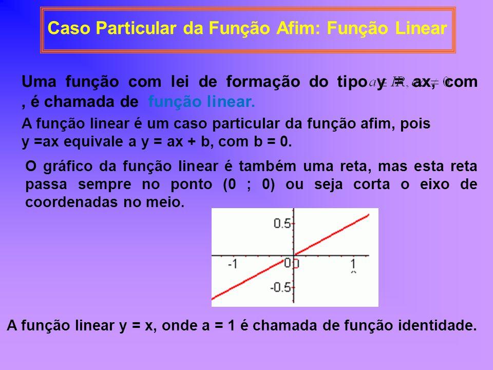 Caso Particular da Função Afim: Função Linear