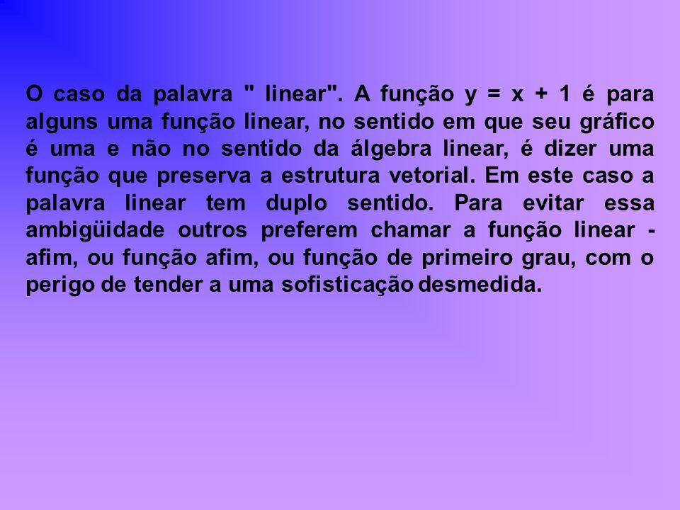 O caso da palavra linear