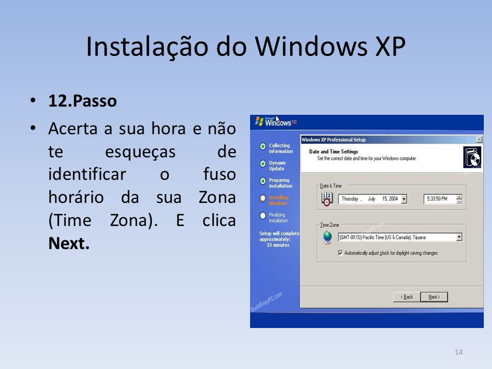 Instalação do Windows XP