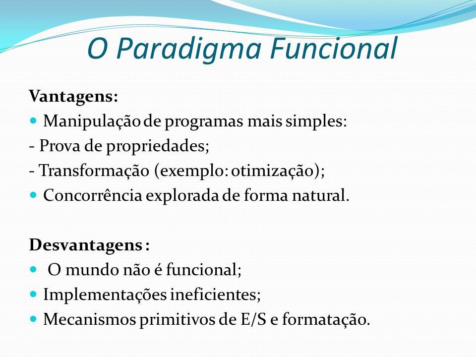 O Paradigma Funcional Vantagens: