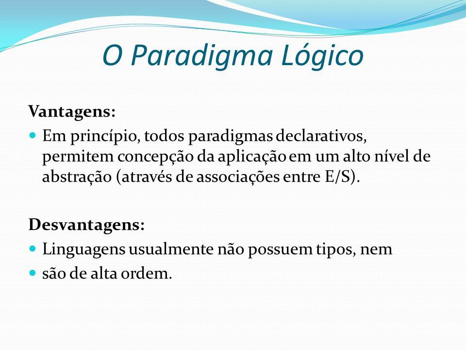 O Paradigma Lógico Vantagens: