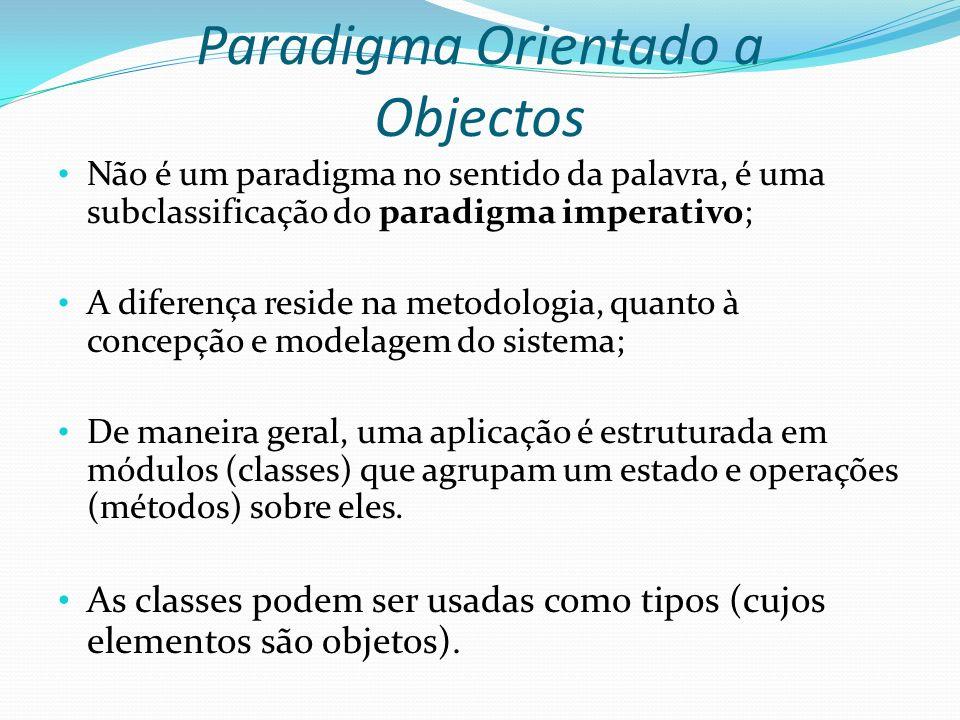 Paradigma Orientado a Objectos