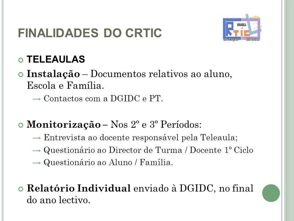 FINALIDADES DO CRTIC TELEAULAS