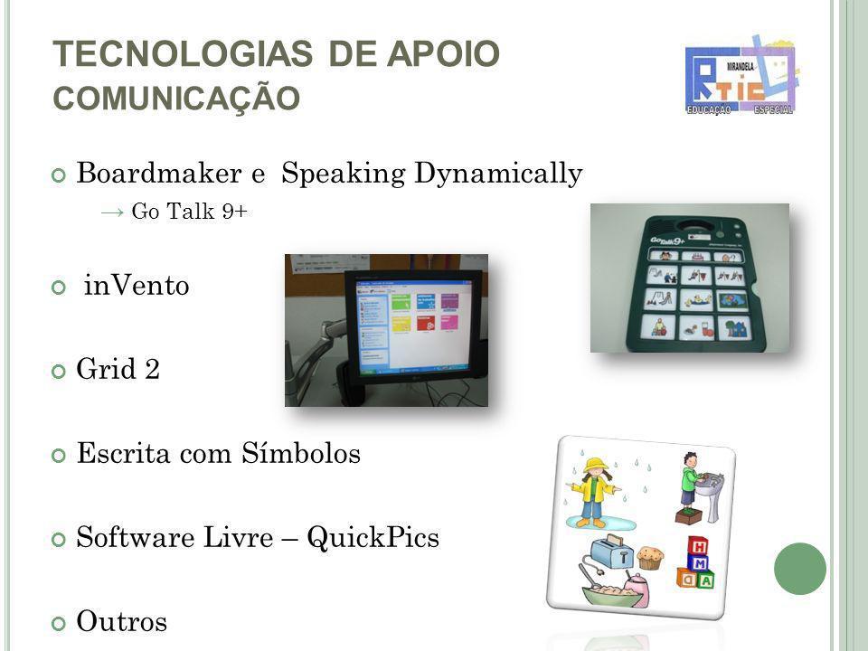 TECNOLOGIAS DE APOIO COMUNICAÇÃO
