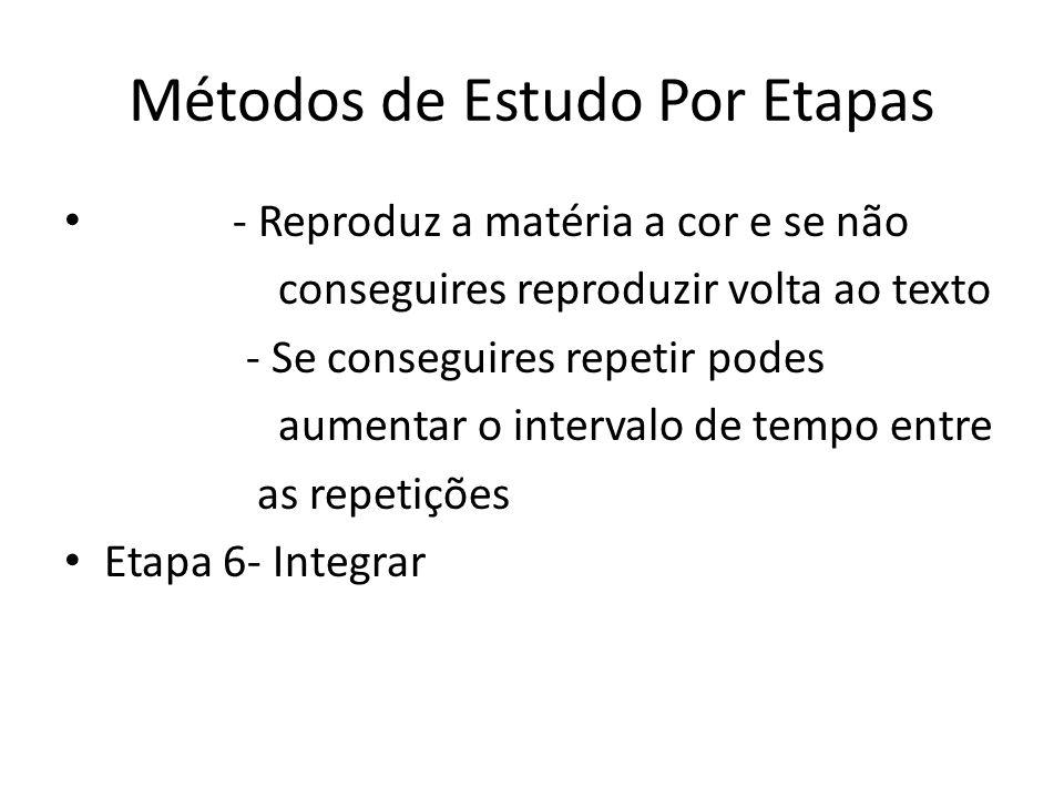 Métodos de Estudo Por Etapas