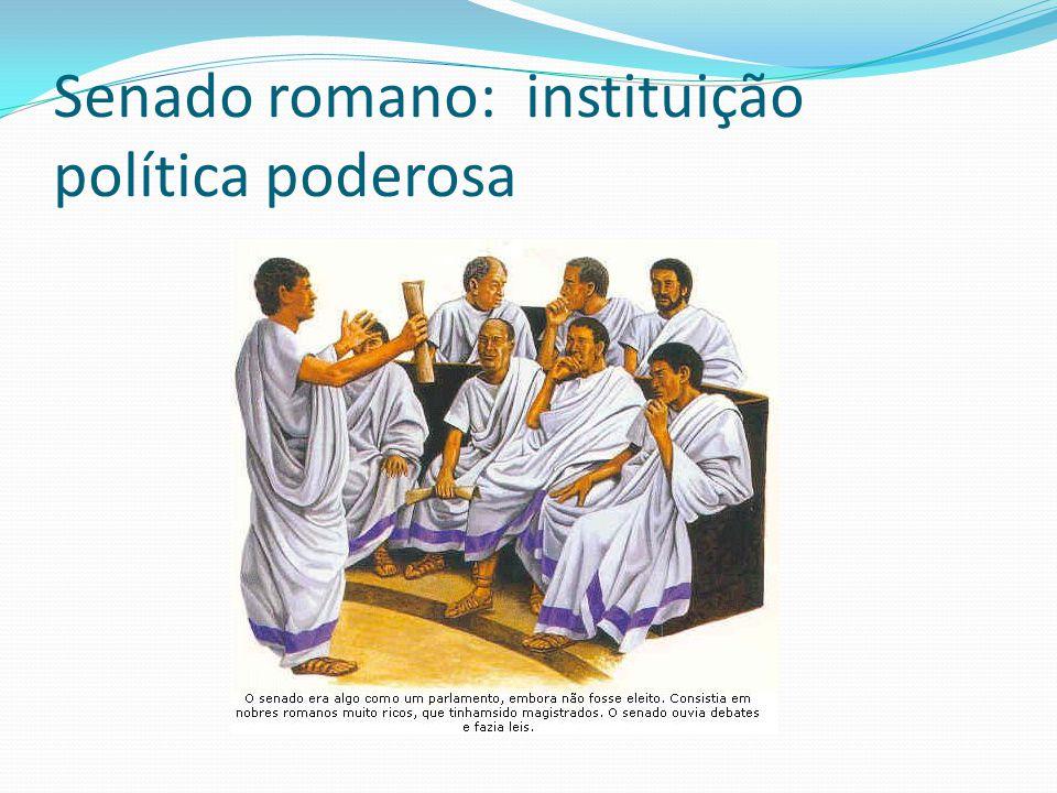 Senado romano: instituição política poderosa