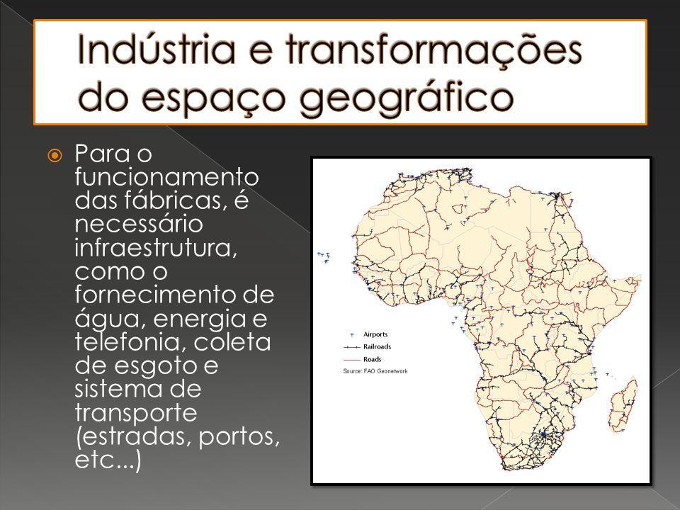 Indústria e transformações do espaço geográfico