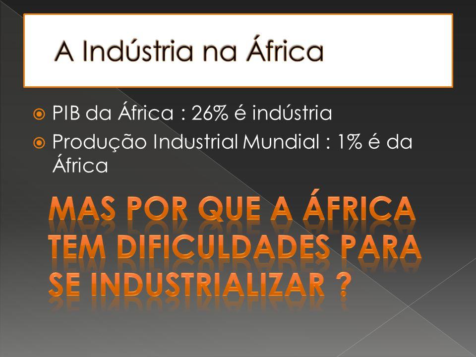 Mas por que a África tem dificuldades para se industrializar