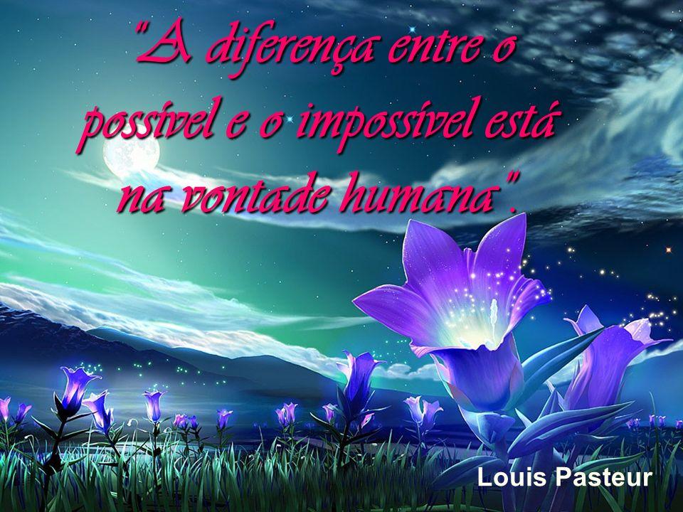 A diferença entre o possível e o impossível está na vontade humana .