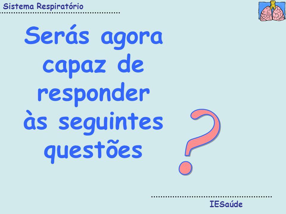 Serás agora capaz de responder às seguintes questões