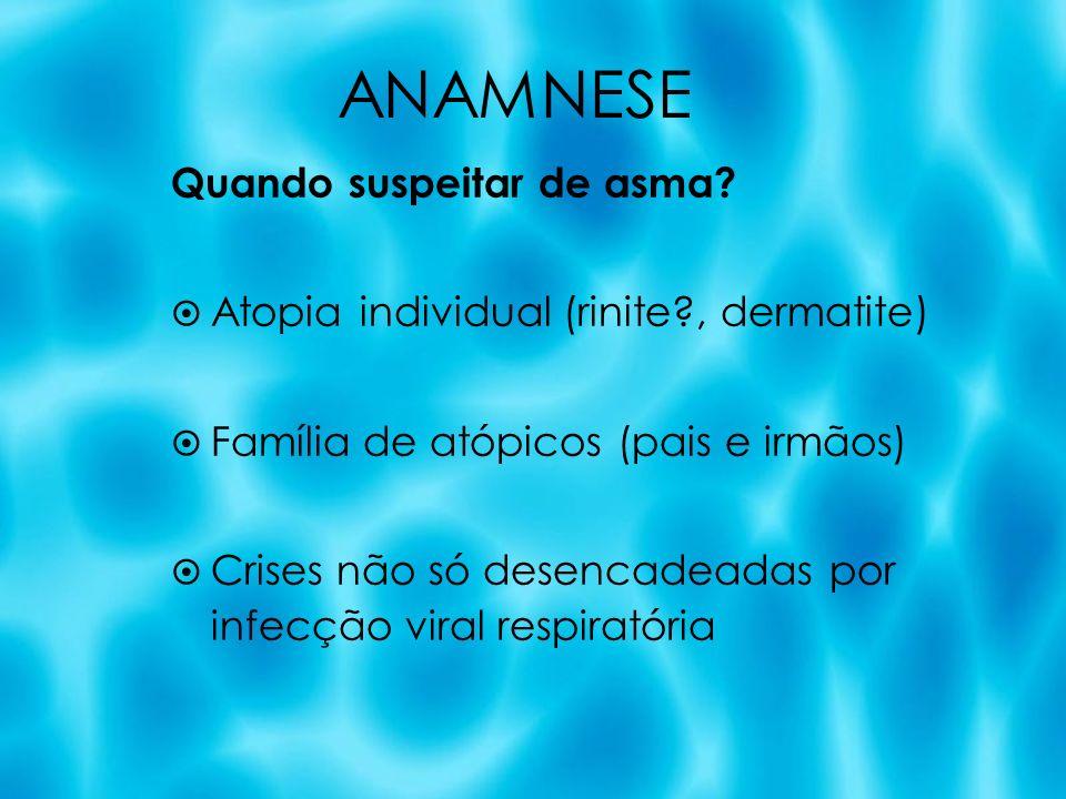 ANAMNESE Quando suspeitar de asma