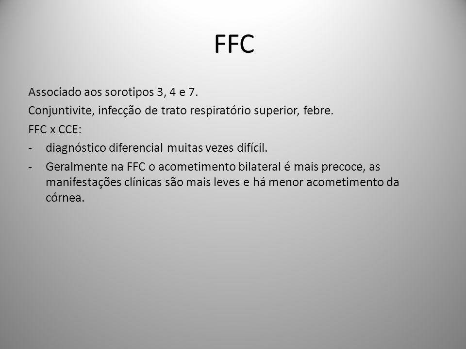 FFC Associado aos sorotipos 3, 4 e 7.