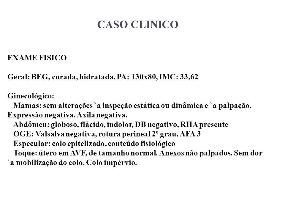 CASO CLINICO EXAME FISICO