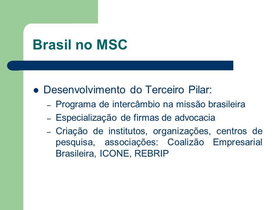 Brasil no MSC Desenvolvimento do Terceiro Pilar: