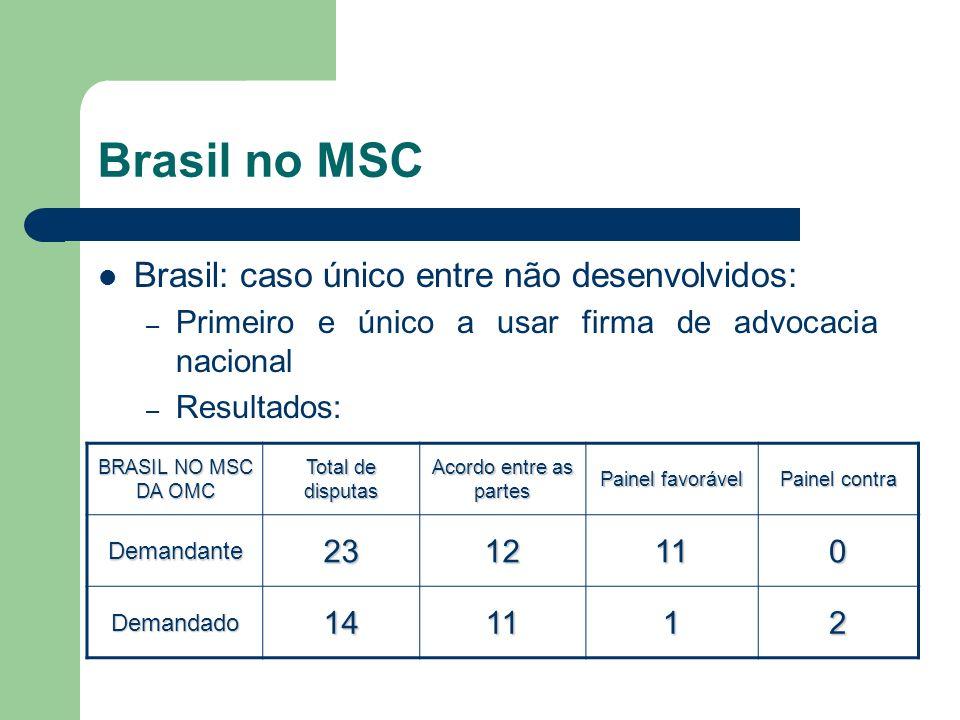 Brasil no MSC Brasil: caso único entre não desenvolvidos: