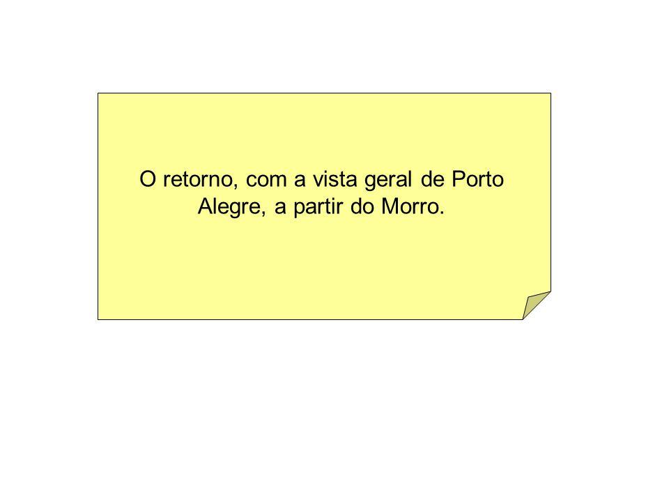 O retorno, com a vista geral de Porto Alegre, a partir do Morro.