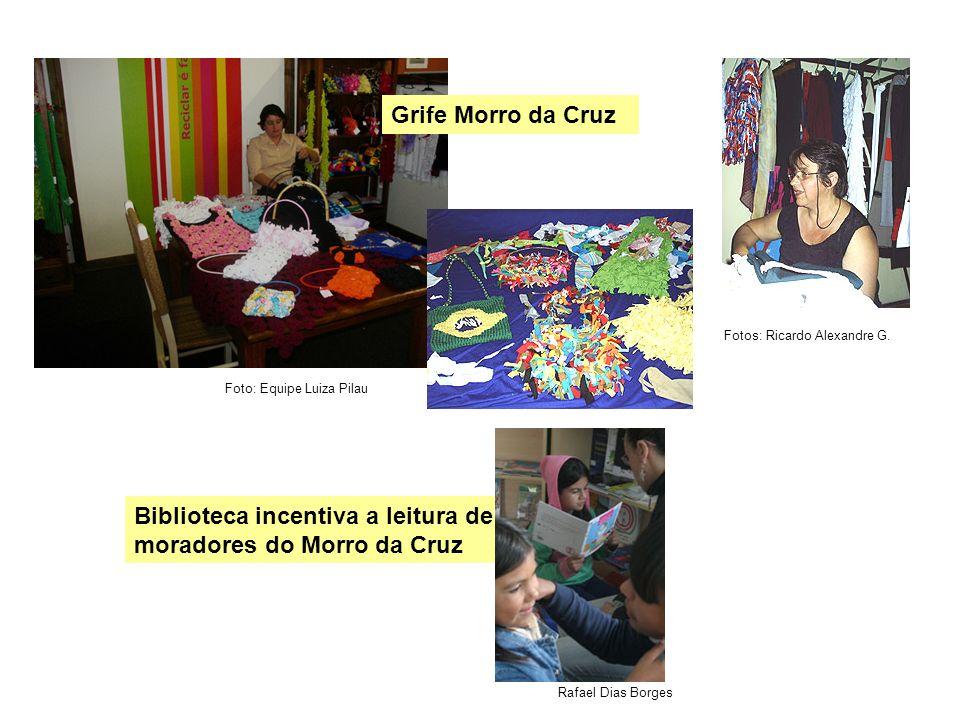 Biblioteca incentiva a leitura de moradores do Morro da Cruz