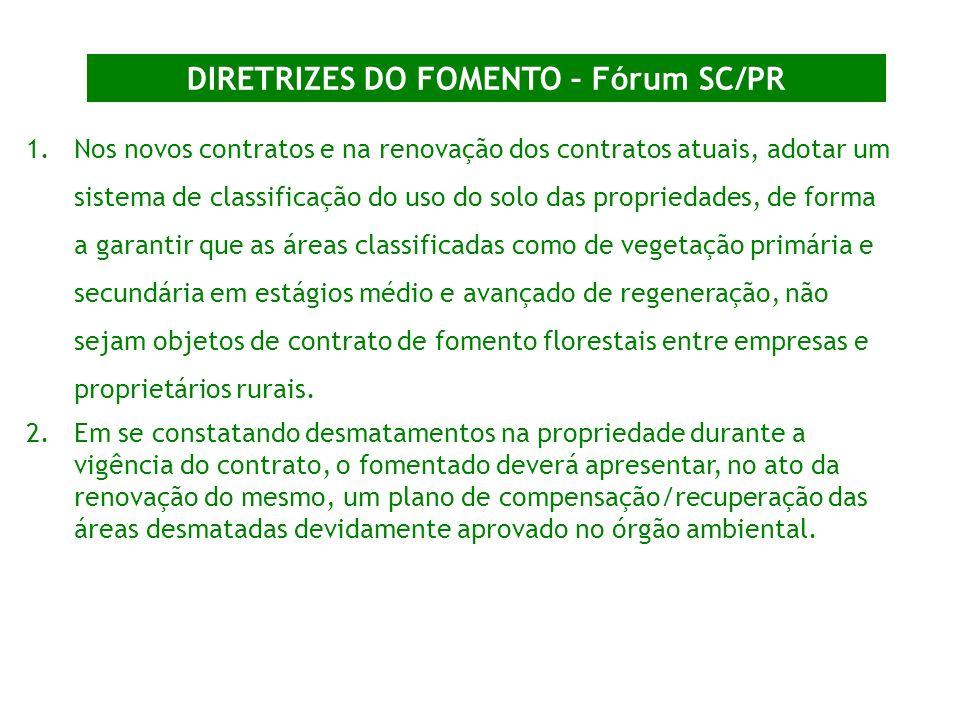 DIRETRIZES DO FOMENTO – Fórum SC/PR