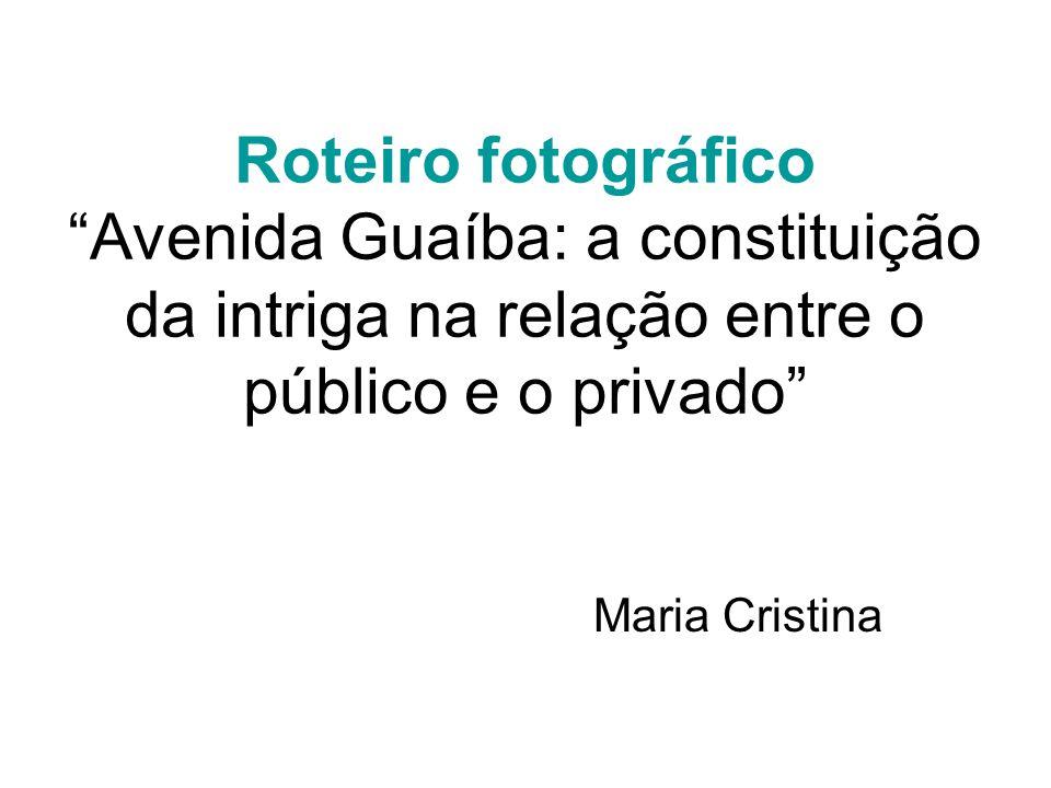 Roteiro fotográfico Avenida Guaíba: a constituição da intriga na relação entre o público e o privado