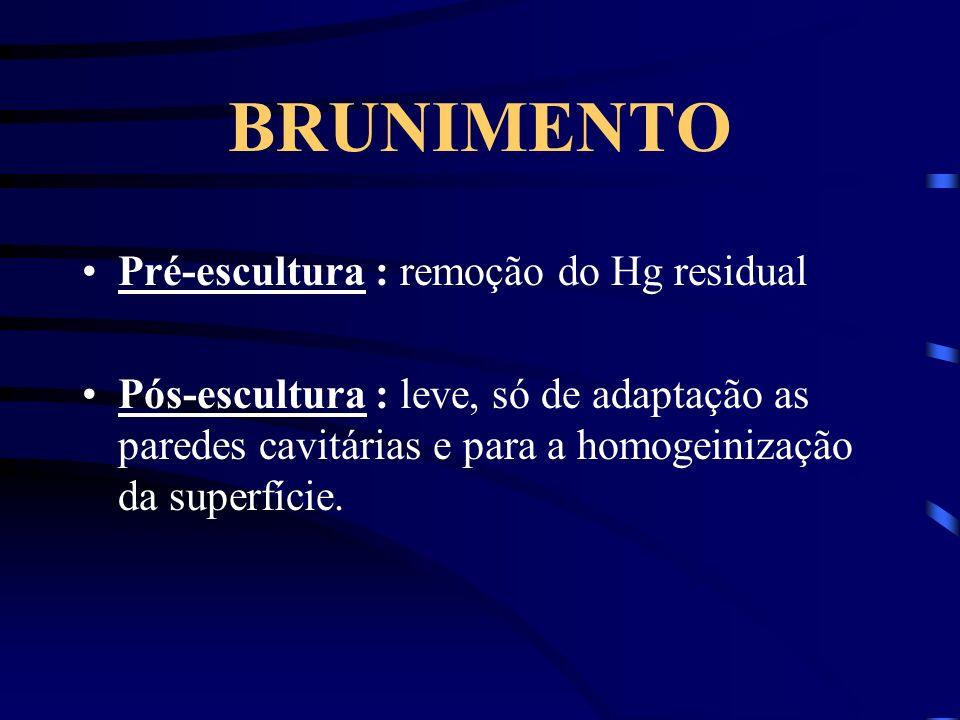 BRUNIMENTO Pré-escultura : remoção do Hg residual