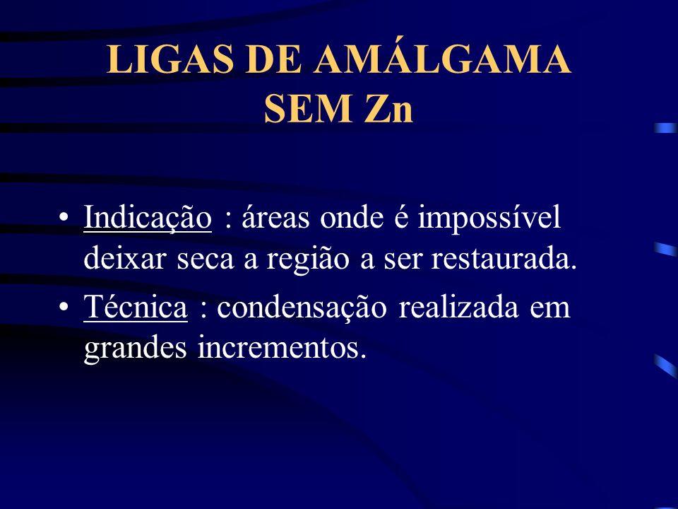 LIGAS DE AMÁLGAMA SEM Zn