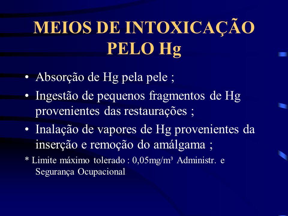 MEIOS DE INTOXICAÇÃO PELO Hg