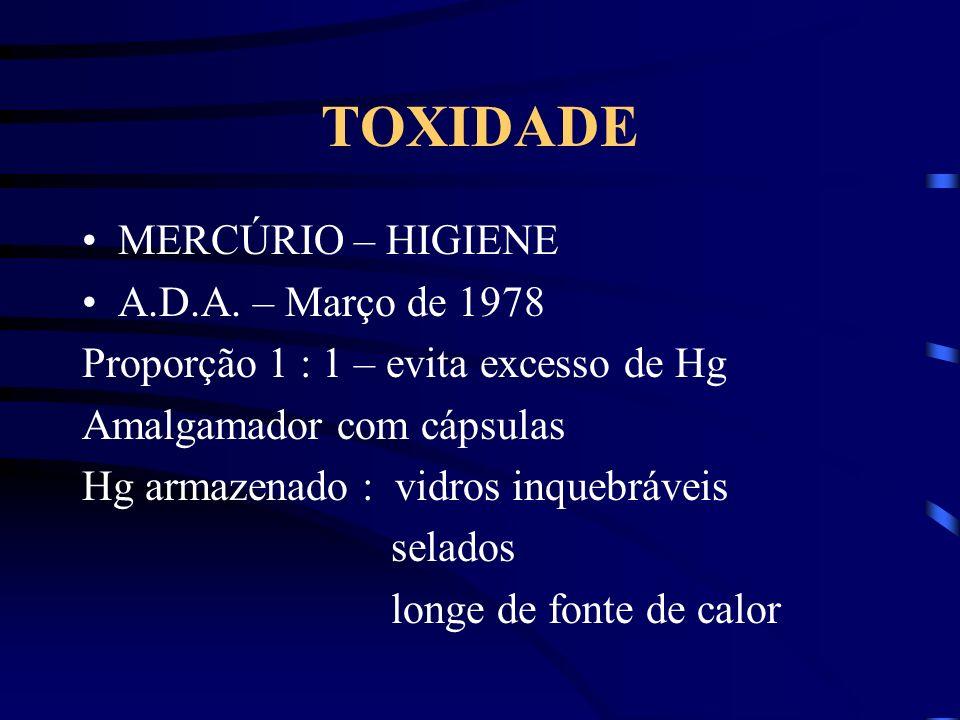 TOXIDADE MERCÚRIO – HIGIENE A.D.A. – Março de 1978