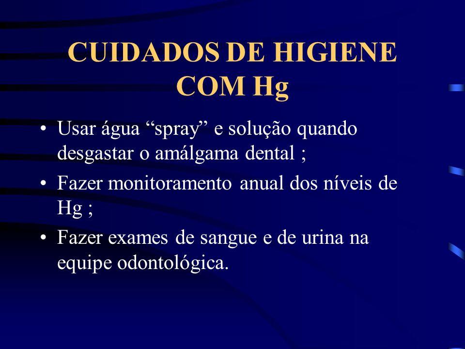 CUIDADOS DE HIGIENE COM Hg