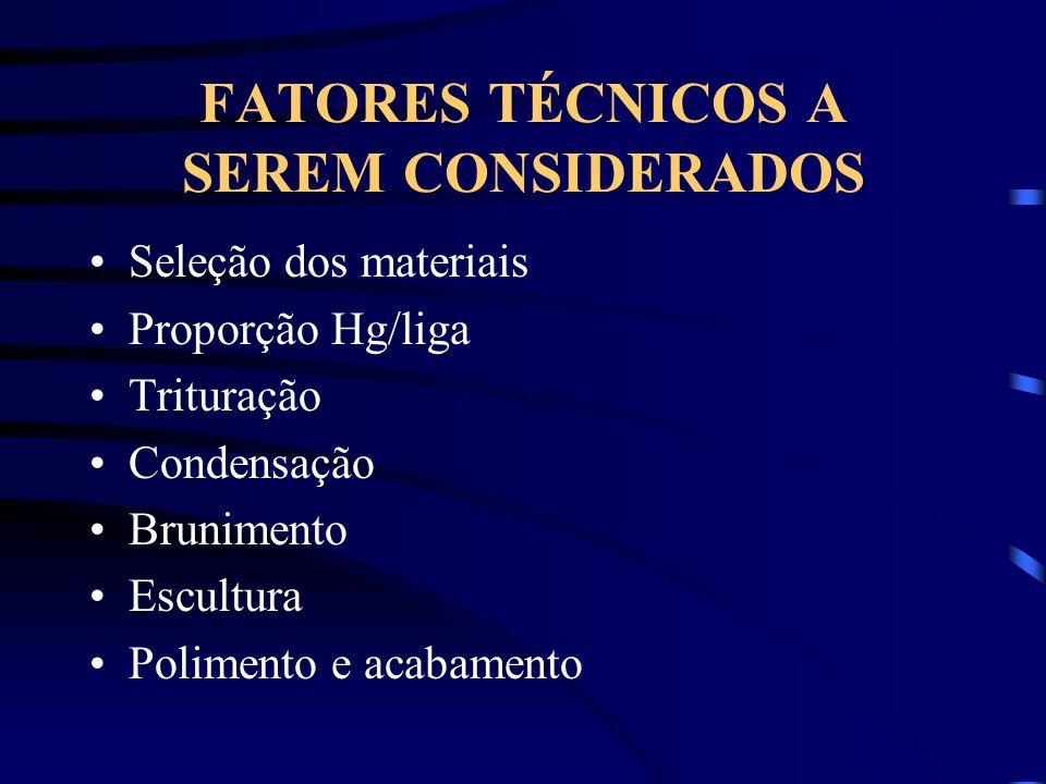 FATORES TÉCNICOS A SEREM CONSIDERADOS