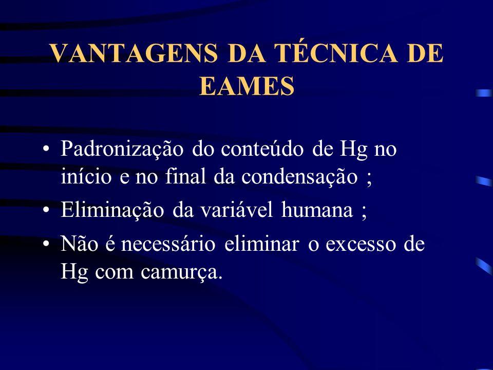 VANTAGENS DA TÉCNICA DE EAMES