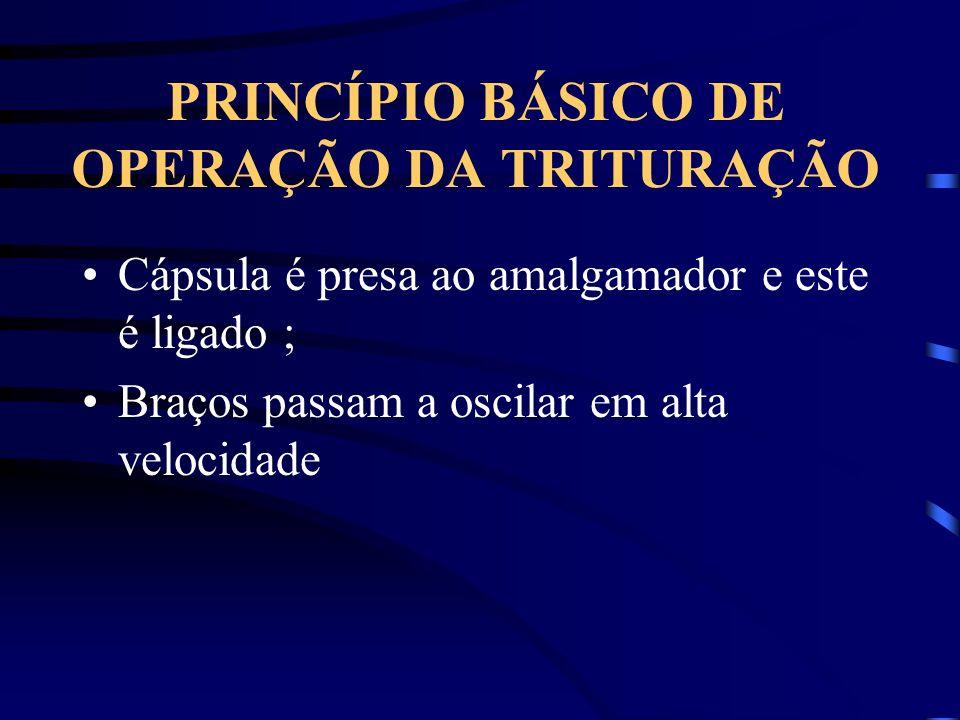 PRINCÍPIO BÁSICO DE OPERAÇÃO DA TRITURAÇÃO