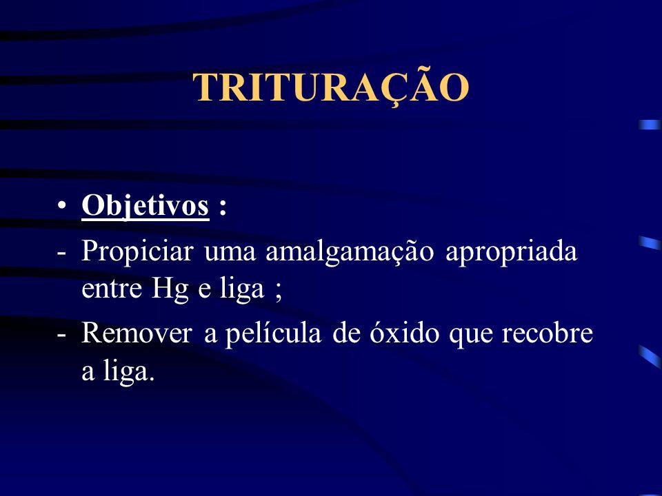 TRITURAÇÃO Objetivos :