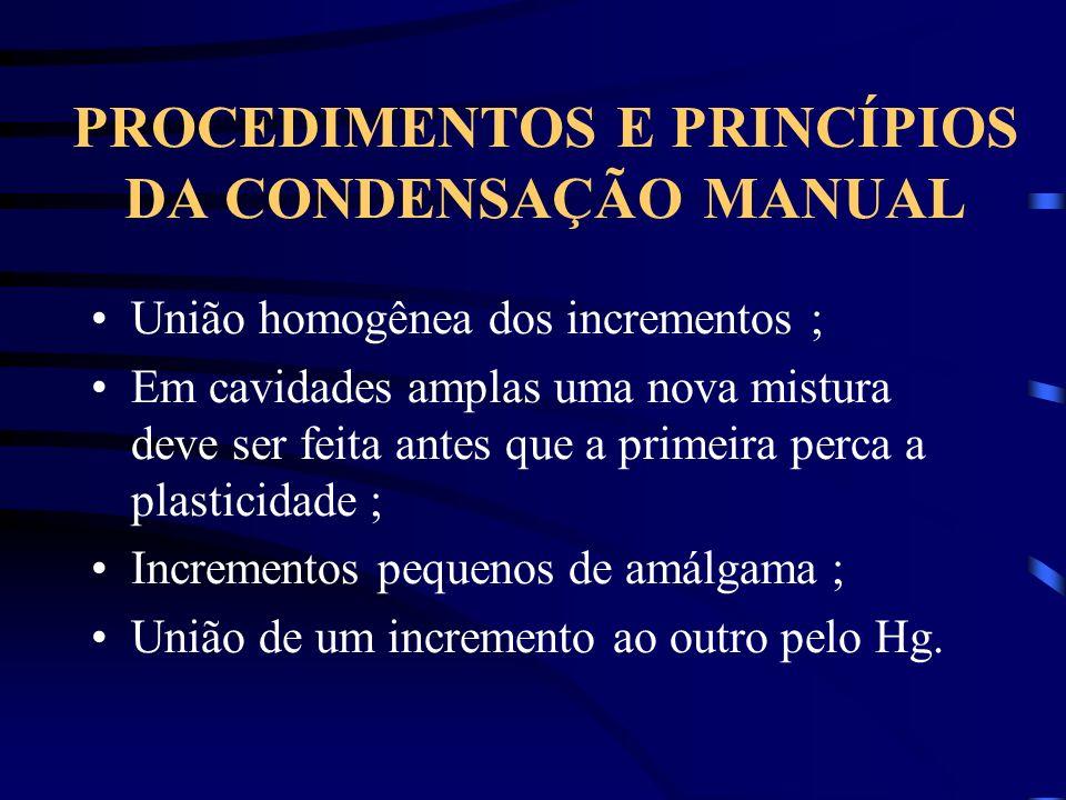PROCEDIMENTOS E PRINCÍPIOS DA CONDENSAÇÃO MANUAL