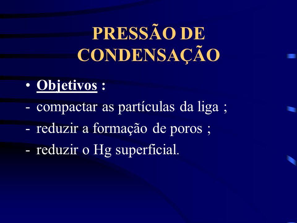 PRESSÃO DE CONDENSAÇÃO