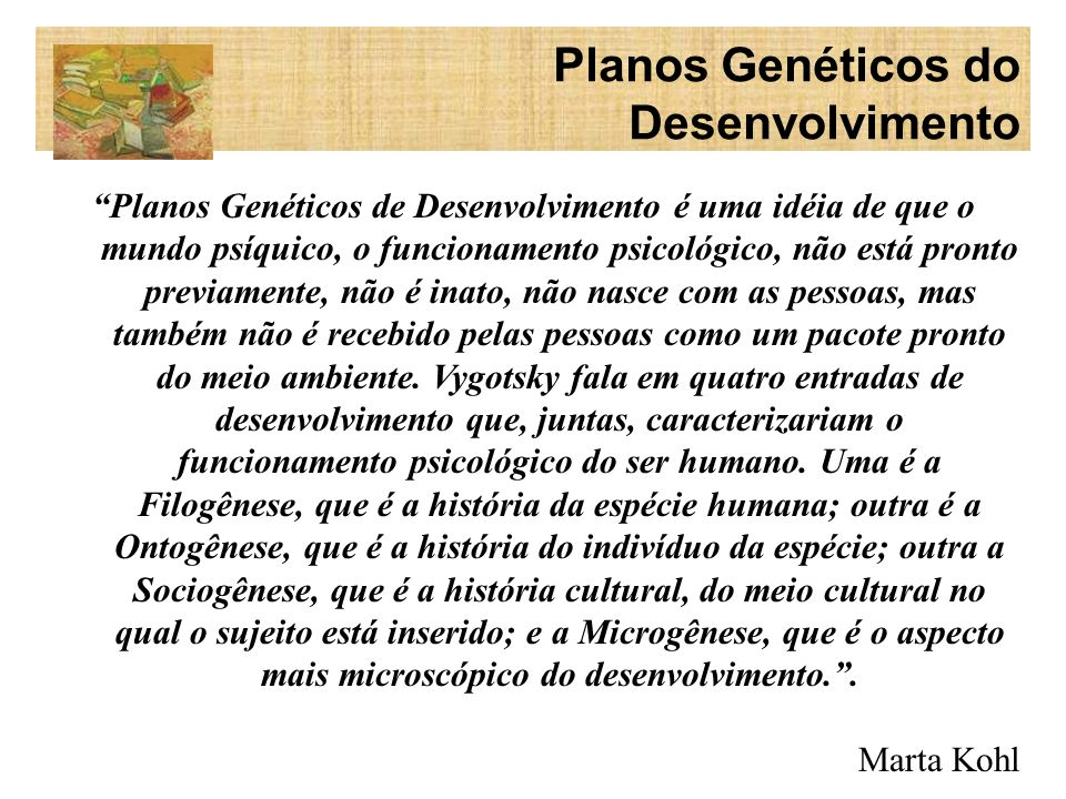 Planos Genéticos do Desenvolvimento