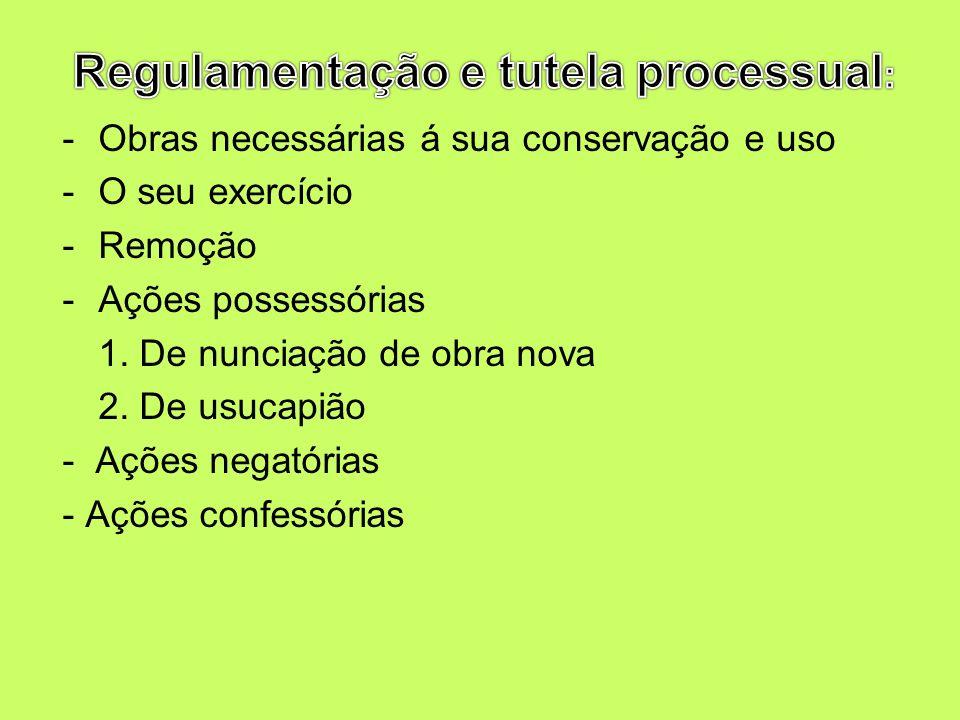 Regulamentação e tutela processual: