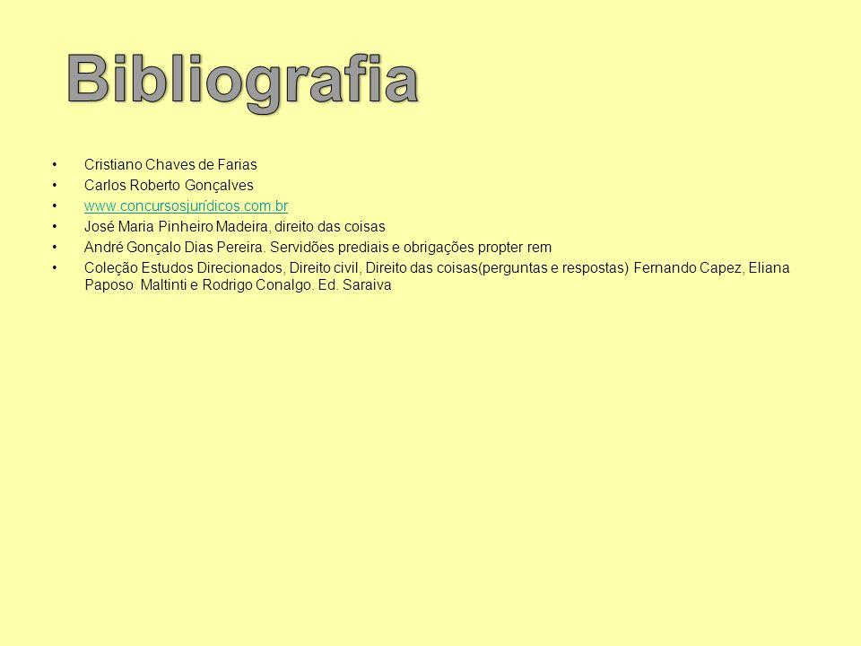 Bibliografia Cristiano Chaves de Farias Carlos Roberto Gonçalves