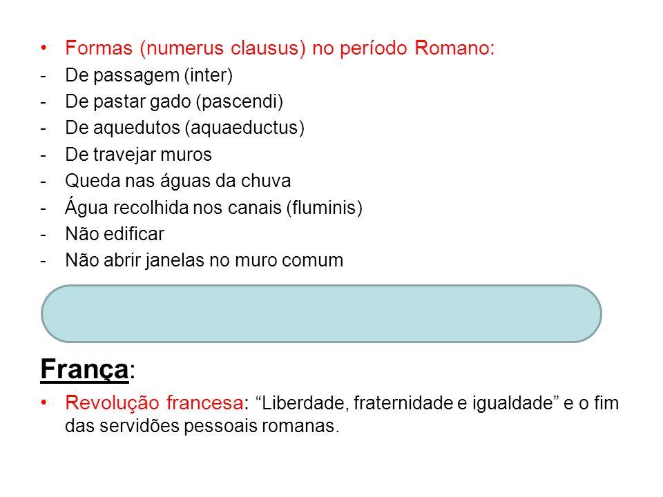 França: Formas (numerus clausus) no período Romano: