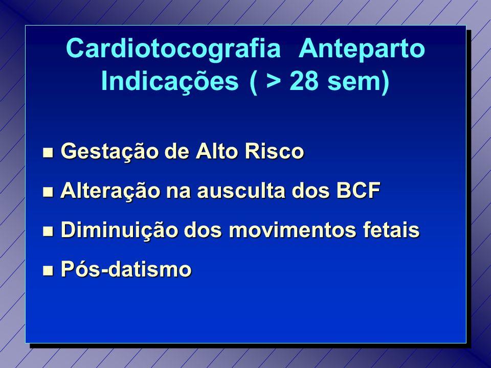 Cardiotocografia Anteparto Indicações ( > 28 sem)