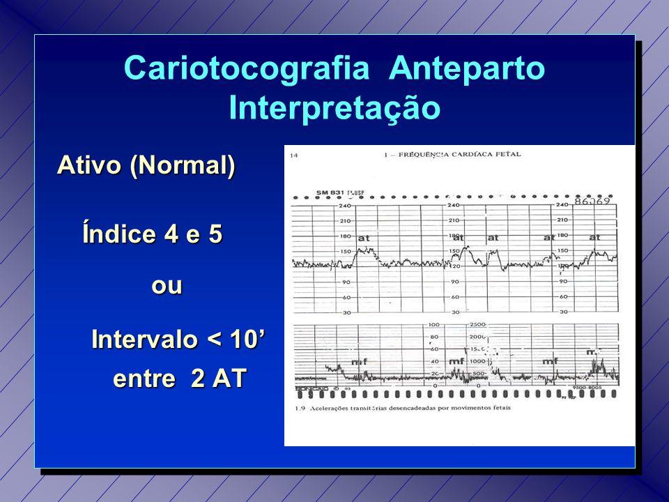 Cariotocografia Anteparto Interpretação