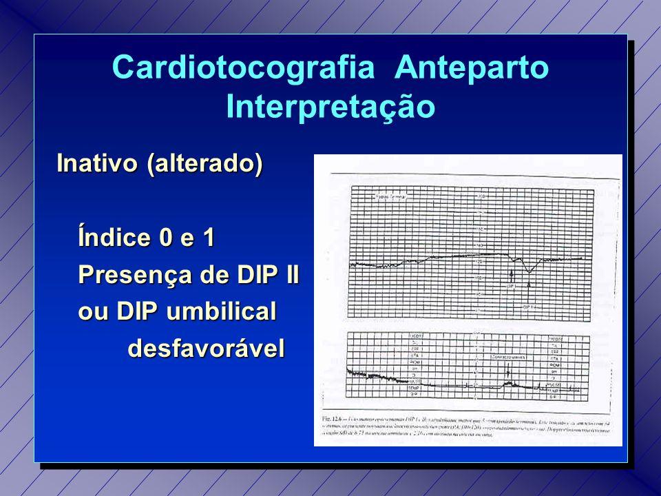 Cardiotocografia Anteparto Interpretação