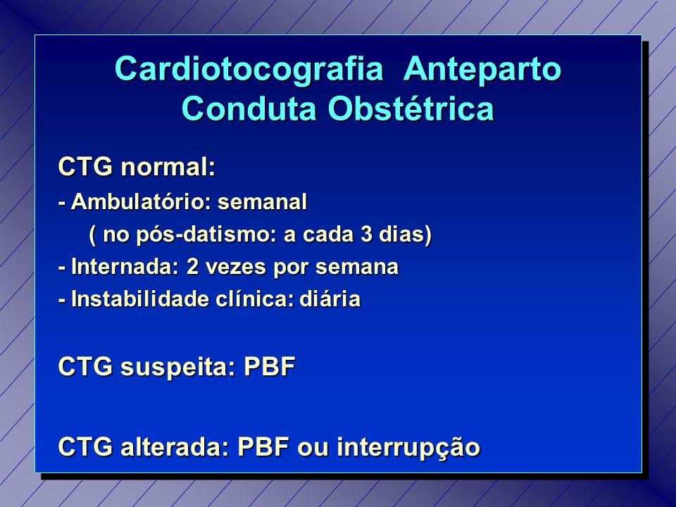 Cardiotocografia Anteparto Conduta Obstétrica