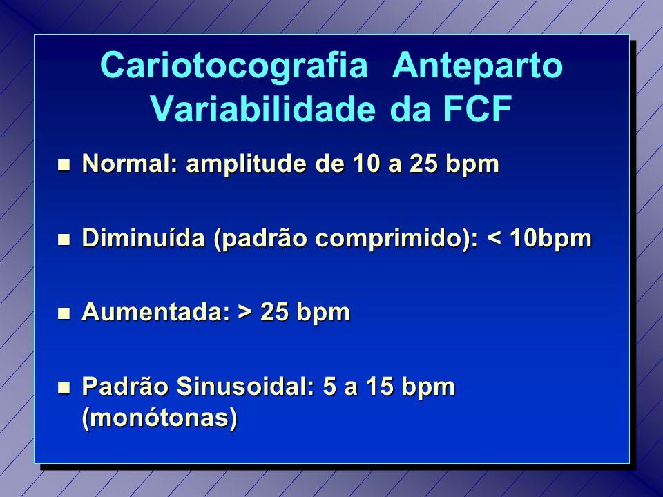 Cariotocografia Anteparto Variabilidade da FCF