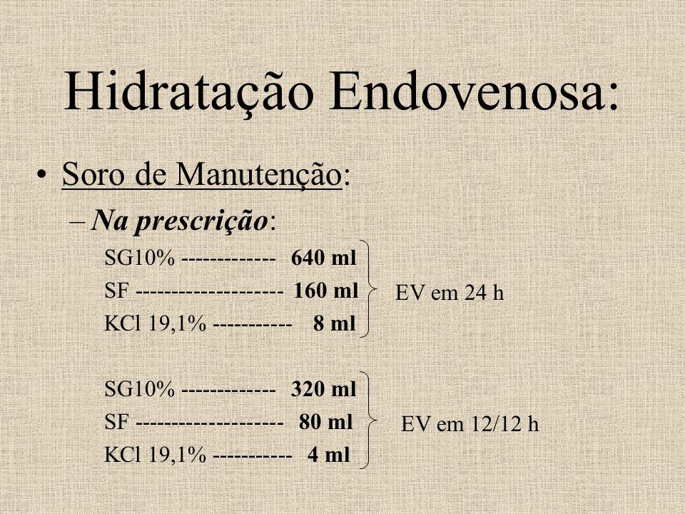 Hidratação Endovenosa: