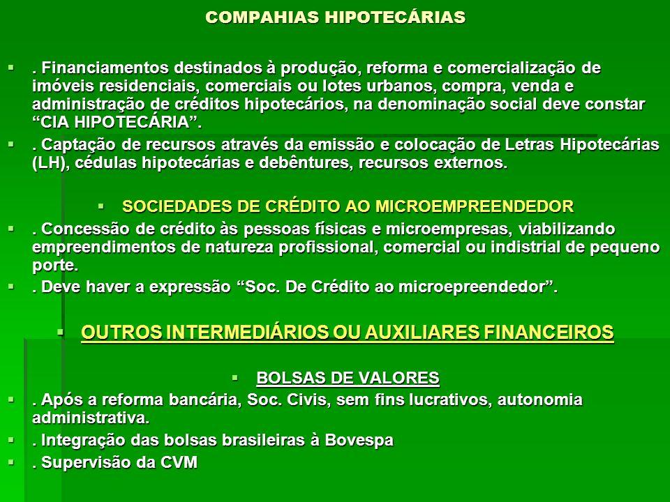 COMPAHIAS HIPOTECÁRIAS