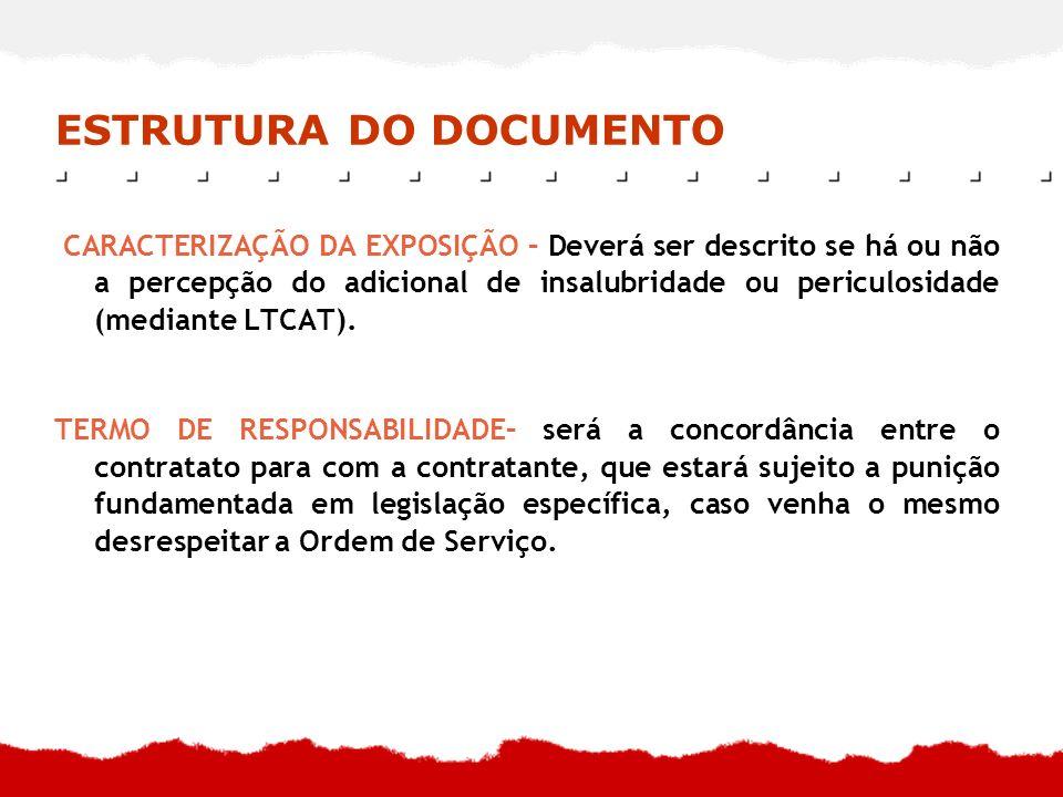 ESTRUTURA DO DOCUMENTO