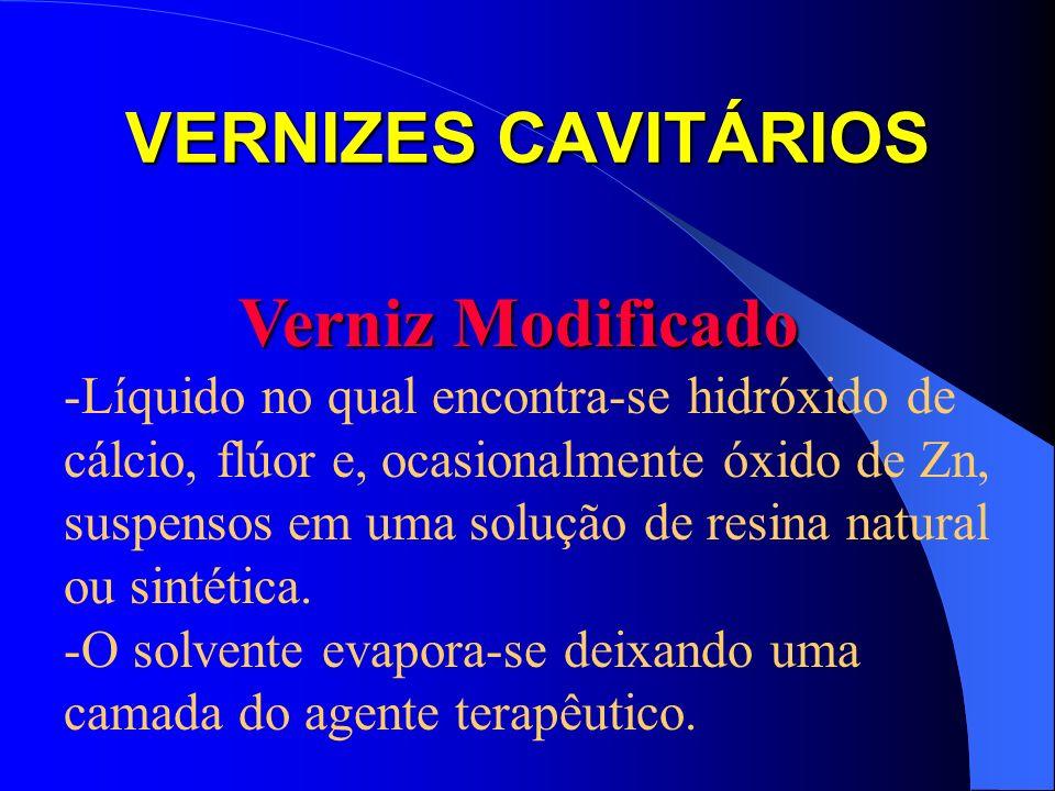 VERNIZES CAVITÁRIOS Verniz Modificado